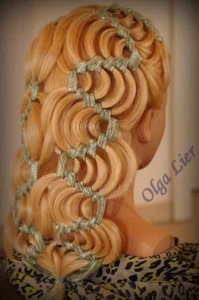 Плетение кос бабочками 112