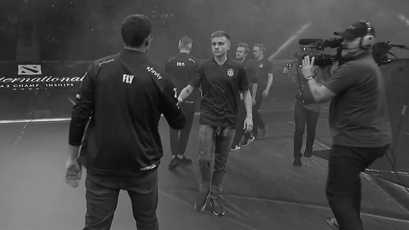 Notail and Fly after match OG vs EG TI8 - Unforgettable Moment