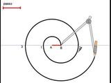 spirale a due centri dato il passo