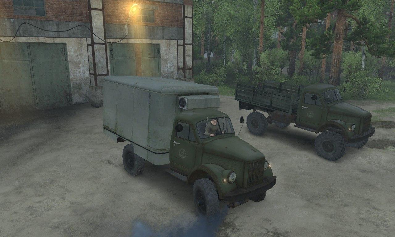 Газ-63 и Газ-63м для 03.03.16 для Spintires - Скриншот 1