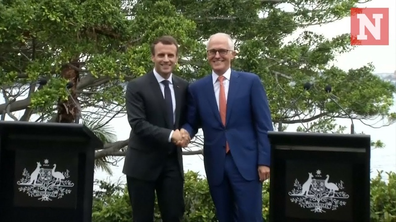 Macron thanks Australian Prime Ministers delicious wife