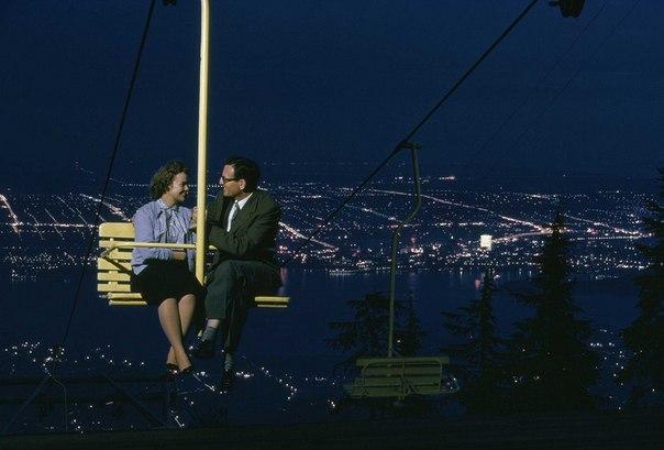 Пригласил девушку на свидание. Ванкувер, Канада, 1958 год.