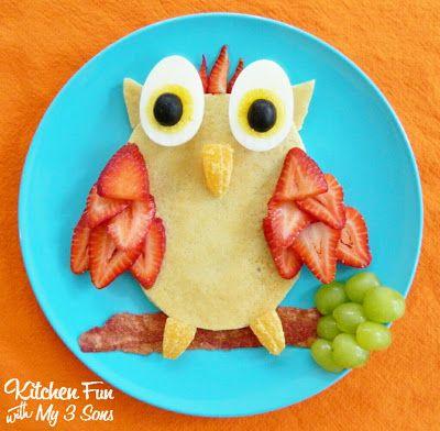 Идеи оформления детских блюд