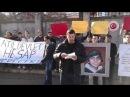 Ukrayna Odessa'da T C Konsolosluğunun onunde BERKİN için eylem