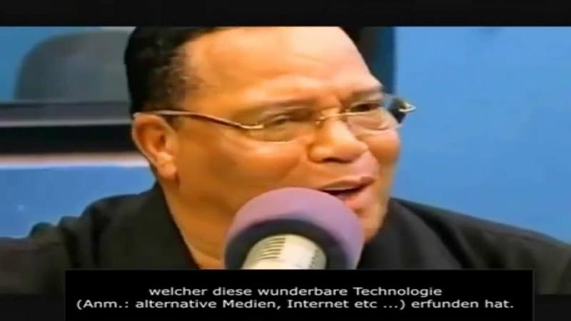 Louis Farrakhan's Rede an Vertreter der Mainstream Medien