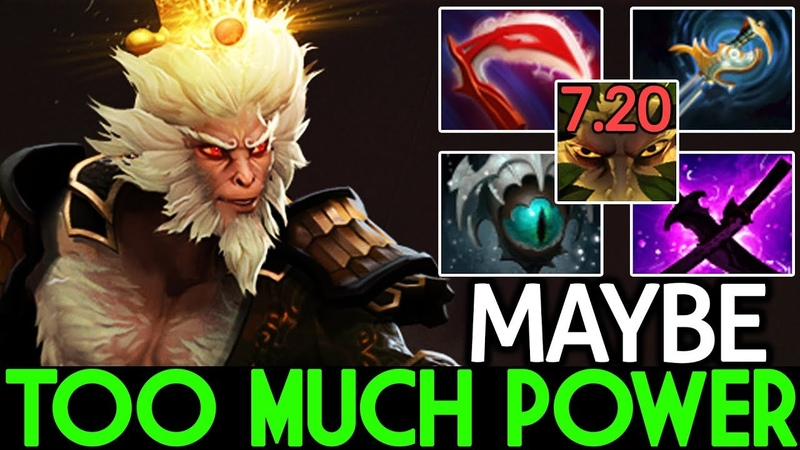 Maybe [Monkey King] Too Much Power Pro Player Destroy Pub Game 7.20 Dota 2