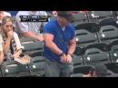 BodyBuilder Baseball Fan Can't Open Water Bottle at New York Mets Baseball Game
