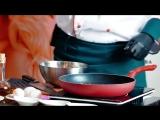 Fetuchini di pasta con salsa alla carbonara