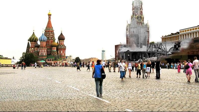 Засыпанный Мавзолей Ленина 2