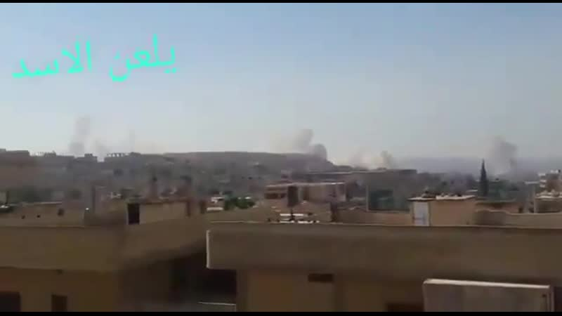 Suriye-İdlip - Sam rejimi güçleri ÇNRA ve topçu atışlarıyla Hamanın Kuzey kırsalında ki yerleşkeleri hedef aldı.