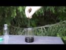 Получение угольной пены - Реакция сахара и серной кислоты