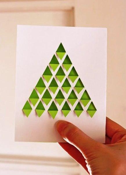 как сделать открытку на новый год своими руками