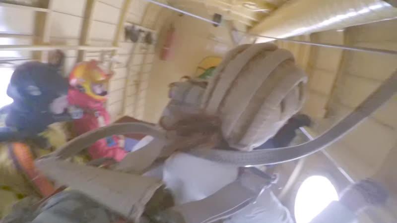 Прыжок ребят с парашютом Д-6 Слободка 16.03.2019
