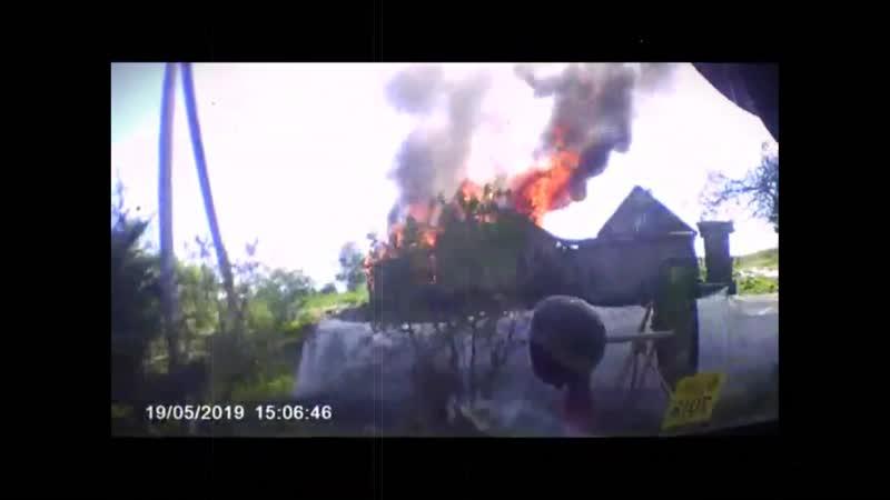 Под Полоцком мужчина из ревности сжег дом, где жил