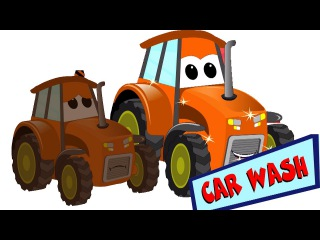 Zugmaschine | Autowäsche Video | Bauernhof Fahrzeuge für Kinder | Tractor | Car Wash Video
