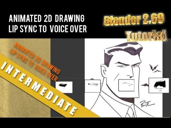 Animating 2D Drawings with Lip Sync in Blender 2.69 Tutorial