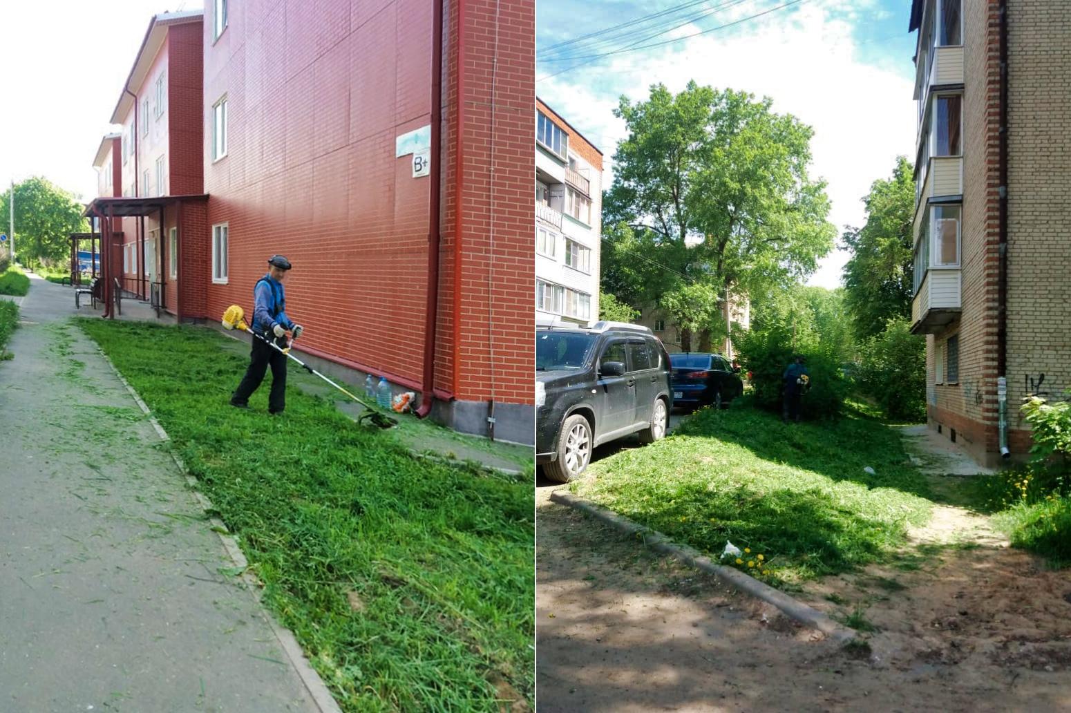 Занимаемся окосом придомовых территорий на Испытателей, Северном и Свердлова