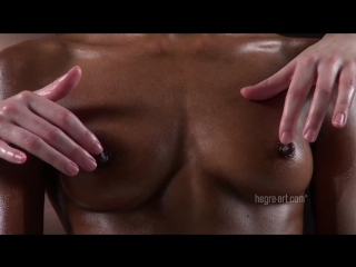 Черный и белый массаж груди \ black and white breast massage, эротический массаж, erotic massage