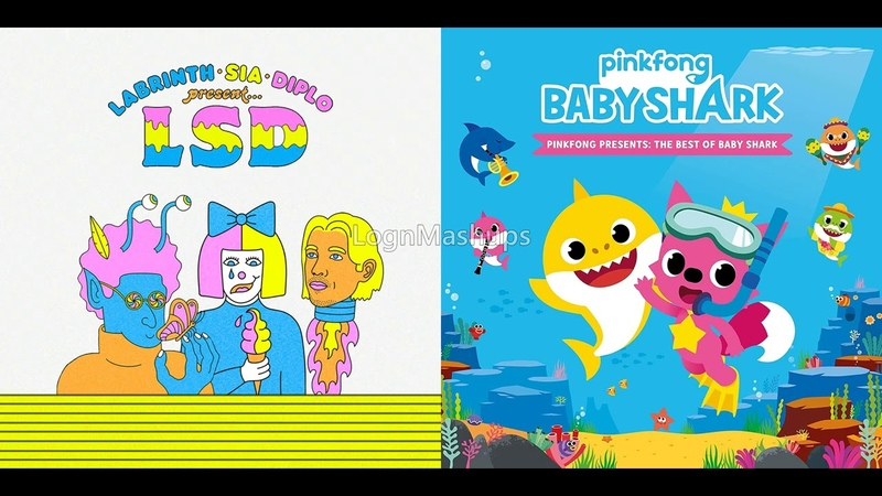 LSD ft Labrinth Sia Diplo vs Pinkfong Baby Thundersharks Mashup