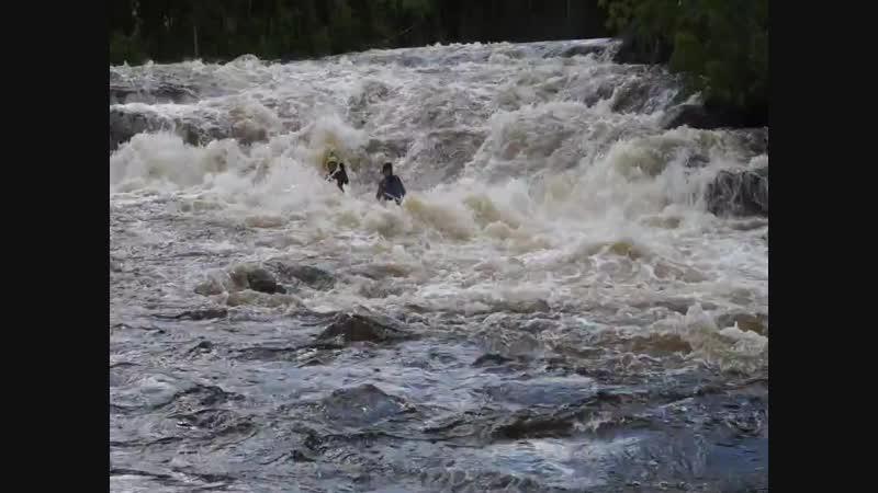 Кульбит в Водопадном Река Кутсайоки 2015 Федор Славин