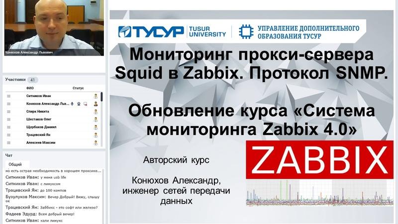 Мониторинг прокси сервера Squid в Zabbix Протокол SNMP
