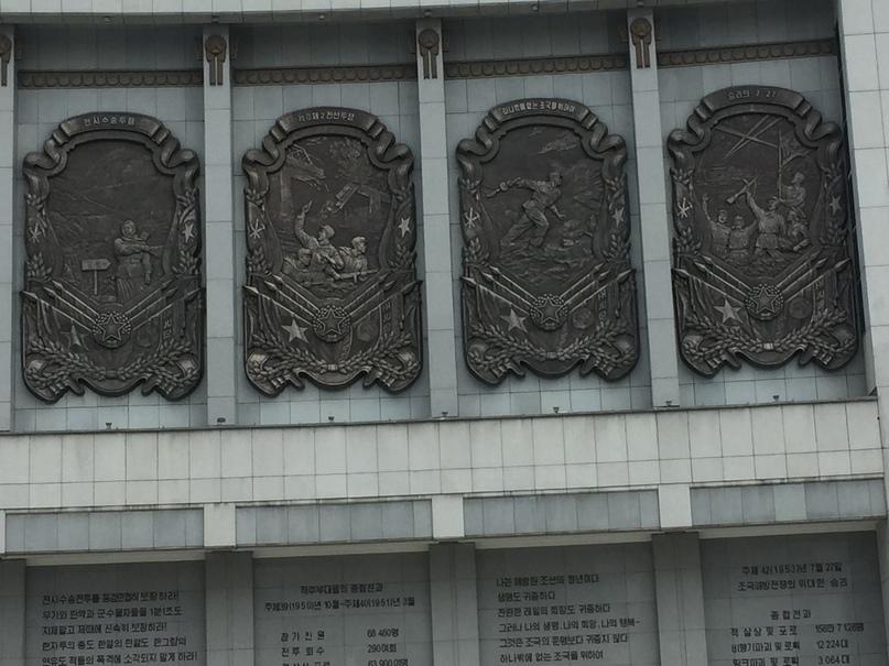 Барельефы на фасаде музея