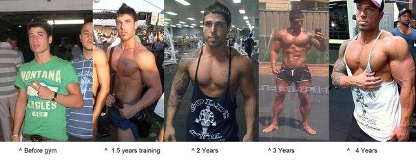 До и после тренажерного зала: