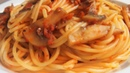 Как просто и вкусно приготовить макароны Спагетти паста с грибами в томатном соусе PASTA