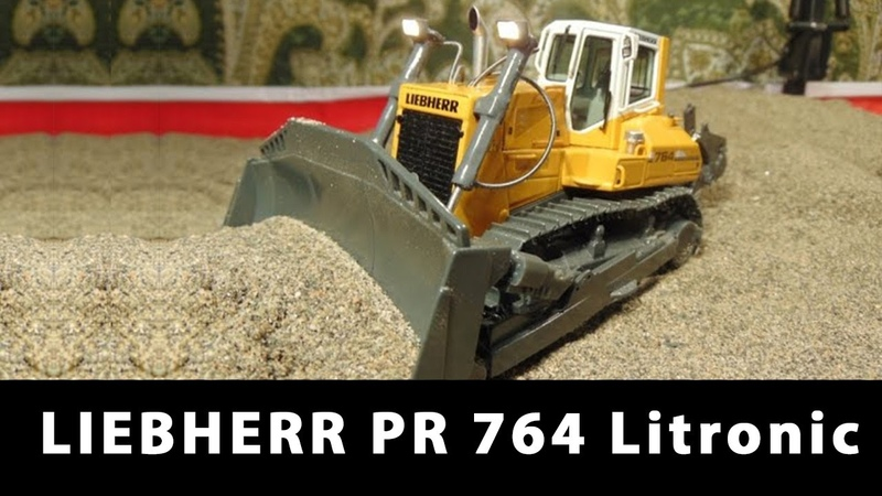 RC Bulldozer LIEBHERR PR 764 Litronic Электрификация масштабных моделей проект Динамика 55