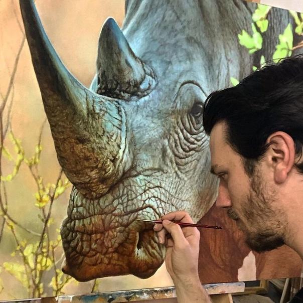 С самого детства канадский художник Ник Сайдер увлекался тиграми