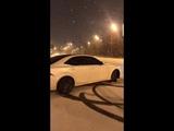 Lexus iS 250.Зимний дрифт по ночной Москве.