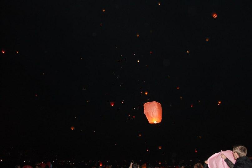 Запуск небесных фонариков 29 сентября в Москве.
