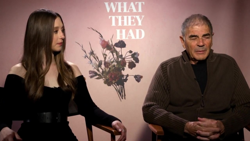 Taissa Farmiga Robert Forster interview What They Had