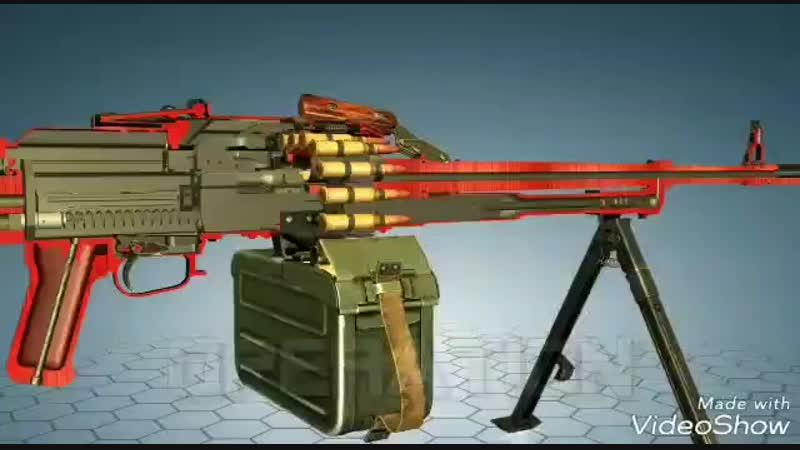 Принцип работы ПК (пулемет Калашникова)