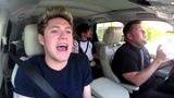 One Direction Carpool Karaoke - Drag Me Down - James Corden's Rap &amp Harry's High Note Fail