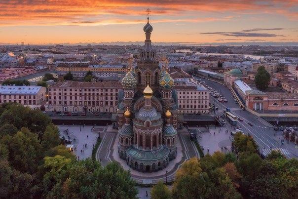 Санкт-Петербург с квадрокоптера.