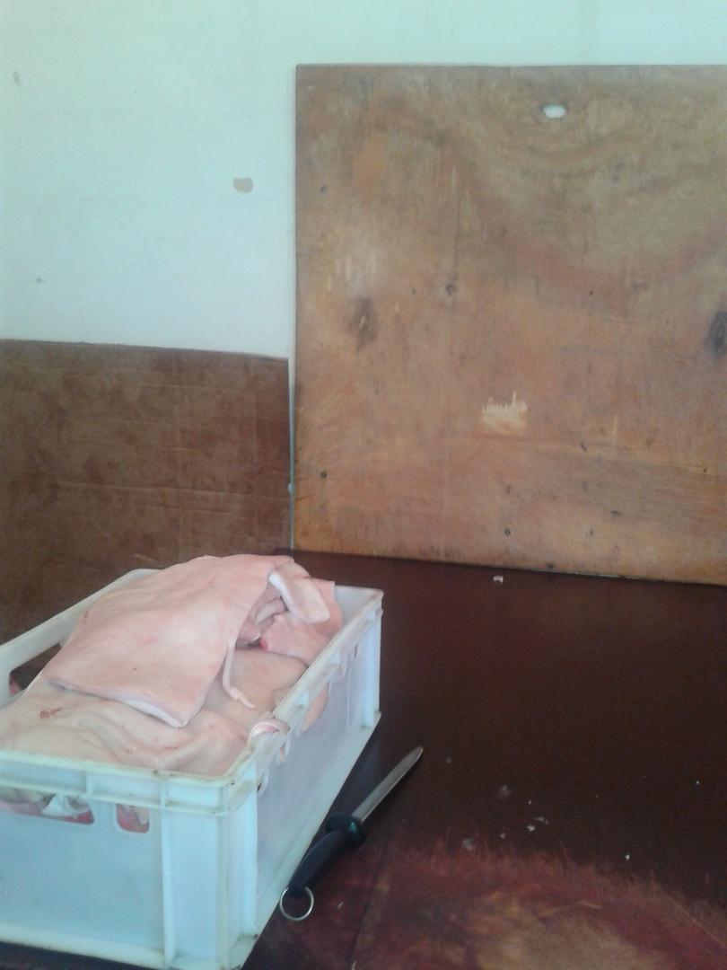 Одиннадцать тонн замороженных свиных шкур изъяли в подпольном цехе под Таганрогом