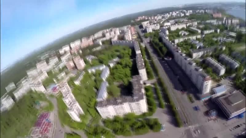 г Северск с высоты птичьего полета Вид Северска с Авиамодели Х8