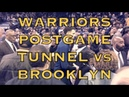 Klay, KD (Kevin Durant), Quinn Cook MORE from Warriors (11-2) postgame tunnel at Oracle Arena