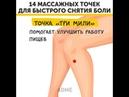 14 массажных точек для быстрого снятия боли