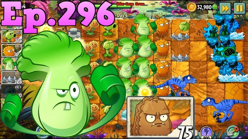 Plants vs. Zombies 2 || Got a new Plant Primal Wall-nut - Jurassic Marsh Day 4 (Ep.296)