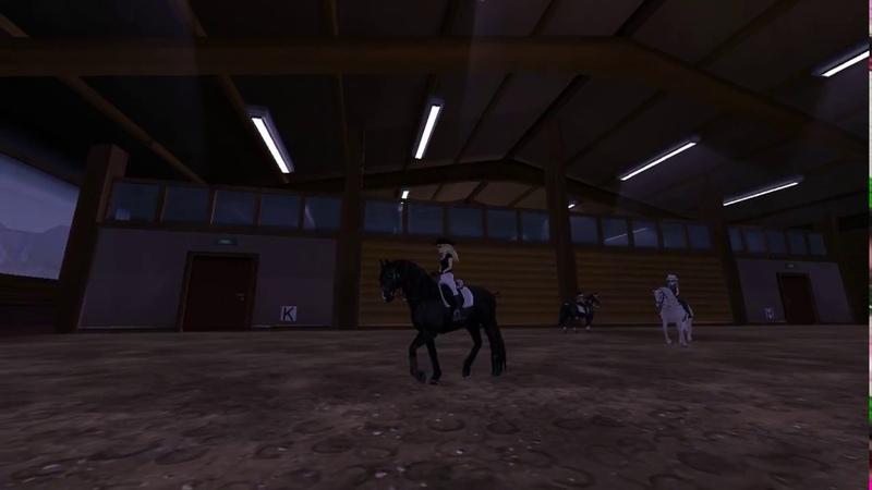 Маленькая тренировачка в конном манеже)Анимация лузитано!