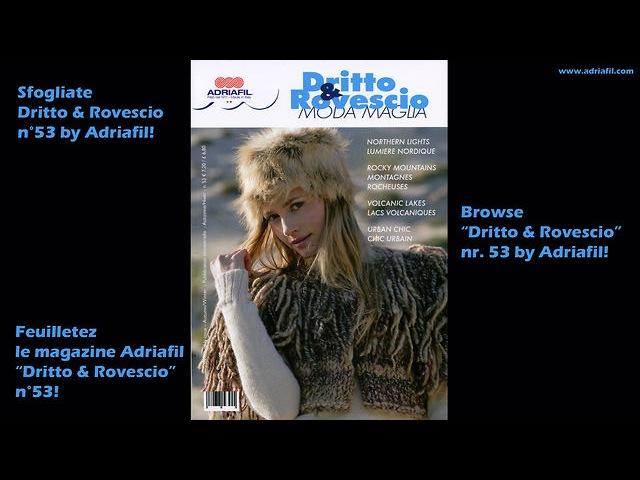 Dritto Rovescio nr. 53 - Adriafil Yarn Magazine - Winter Trends
