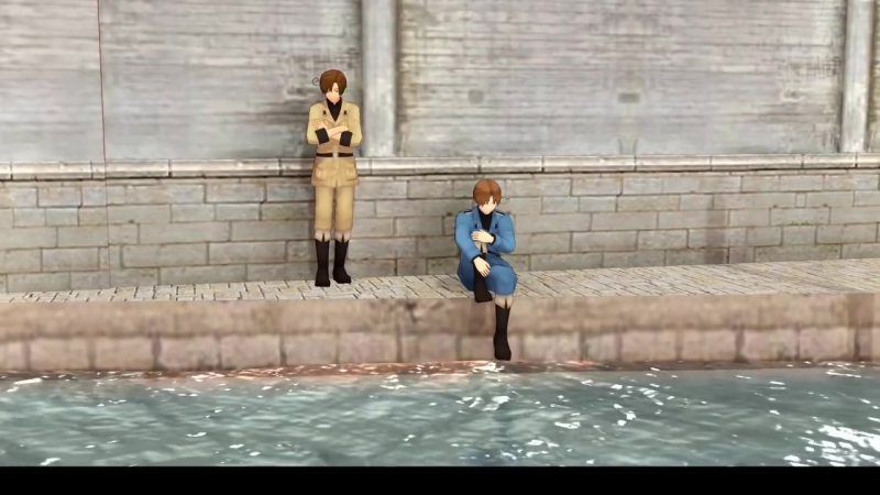 【APH MMD】Veneciano and Romano - City of Water (Italy brothers)