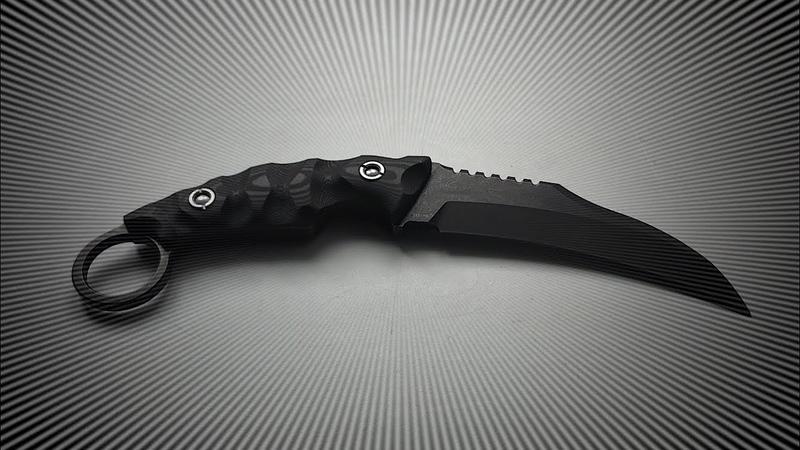 LW Karambit черный VG 10 carbon Ножевая мастерская Knife SPA