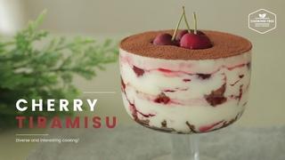 ( https://vk.com/lakomkavk) No-Bake & No-Gelatin Cherry Tiramisu Recipe-Cooking tree ASMR