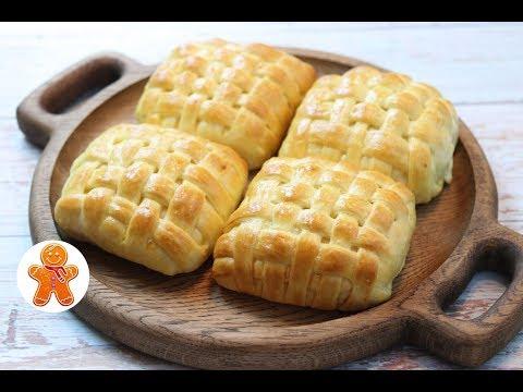 Плетеные Слойки с Сыром ✧ Layered Cheese-Filled Buns Recipe (English Subtitles)