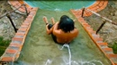 Build Mini Swimming Pool Water Slide And Shower Tank