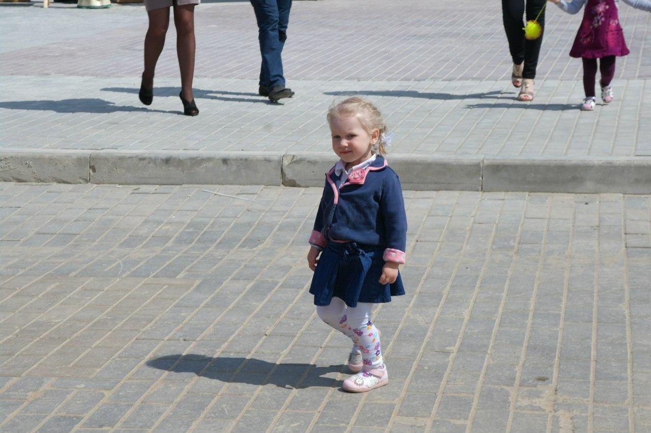 Дети в День Победы в Горках.