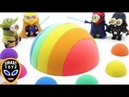 How to make Rainbow Kinetic Sand Colorful Planet Learn Colors with Peppa Pig Play Doh Toys for Kids